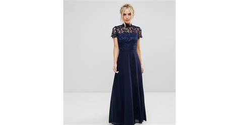 Dress Coat 2in1 Hitam Belt lyst chi chi 2 in 1 high neck maxi dress with crochet lace in blue