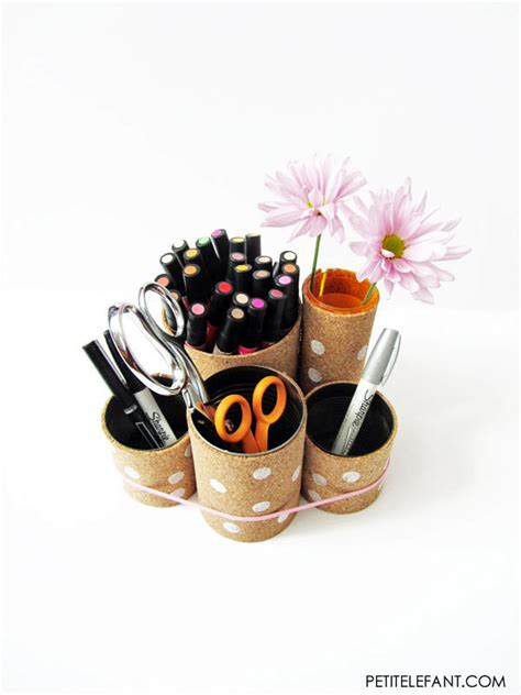 Toilet Desk Organizer Toilet Paper Roll Crafts To Keep Your Home Organized Homesthetics Inspiring Ideas For Your Home
