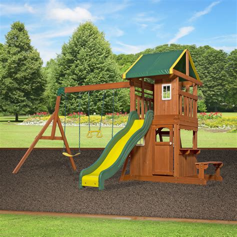 backyard discovery cedar view swing set backyard discovery oakmont all cedar swing set reviews