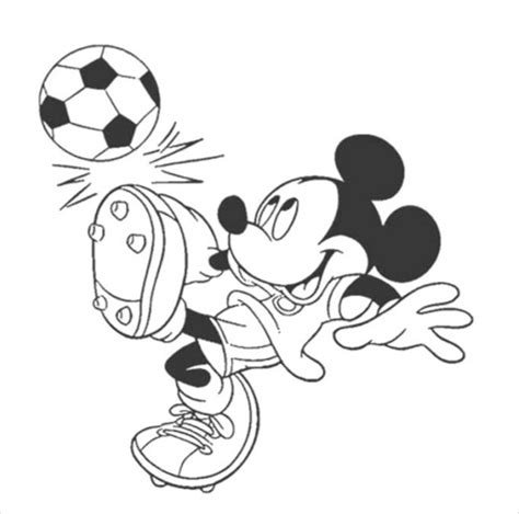 mickey mouse coloring pages download mickey mouse playing foot ball coloring page pdf free