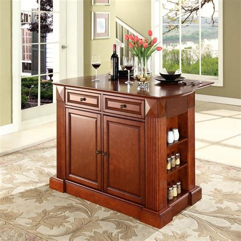 cherry kitchen islands coventry cherry drop leaf breakfast bar top kitchen island