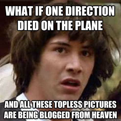 Topless Meme - what if one direction died on the plane and all these
