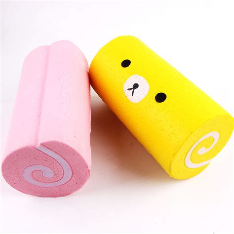 Sale Pink Cake Roll Squishy Squishy Kue squishy jumbo cake roll 15cm rising kawaii cake collection gift decor newchic