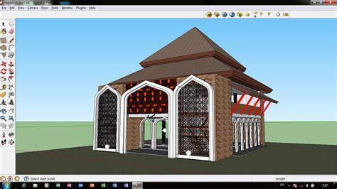 desain masjid timur tengah desain masjid 2 lantai tropis jawa atap pendopo ide