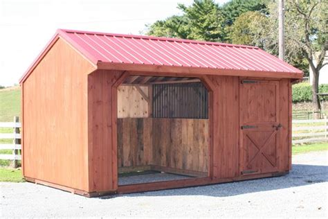 10x18 Shed by Run In Wood 10x18 With 6 Tack Room
