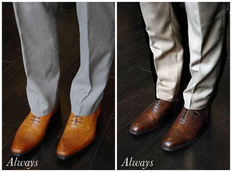 what to wear with light brown boots black shoes vs brown shoes the b blog beckett robb