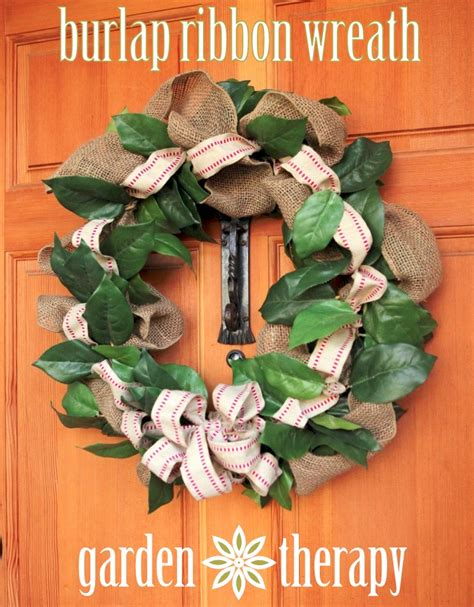 burlap wreath how to wreaths pinterest burlap ribbon wreath it s a wreathhop garden therapy