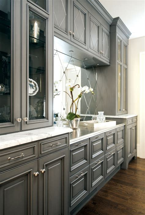 gray kitchen cabinets trove interiors falling for grey kitchens
