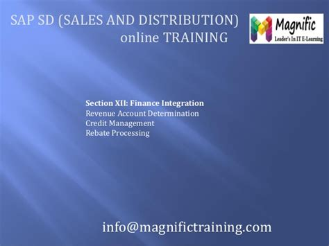 sap tutorial ppt sap sales and distribution tutorial ppt
