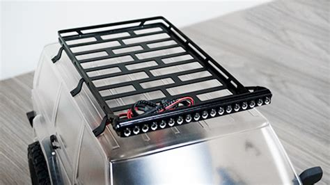 Xtraspeed Metal Luggage Tray Type A xtra speed metal cage roof luggage tray w led for axial scx10 ii xs scx230067