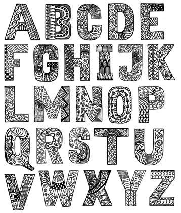 doodle anggi seni rupa huruf anggidetyas