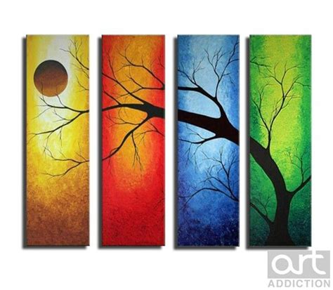 blacksmith colourful trees of fall art panels by a tree through the 4 seasons of the year my beginner