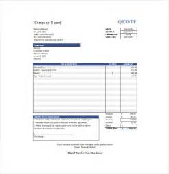 price quote templates doc 460595 business quotation sle price quotation