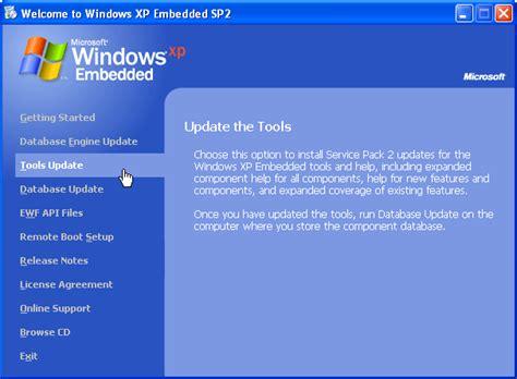 tutorial xp database tutorial windows xp embedded sp2 evaluation install