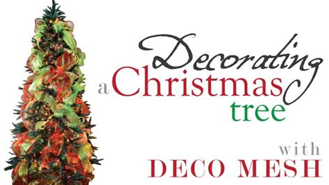 how to use mesh on christmas tree ideas by mardi gras outlet tree decorating with deco mesh a tutorial