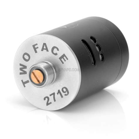 two black 22mm stainless steel rda rebuildable