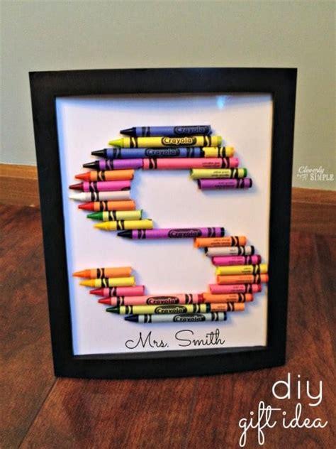 Framed Diy Crayon Letters  Ee  Gift Ee   Idea