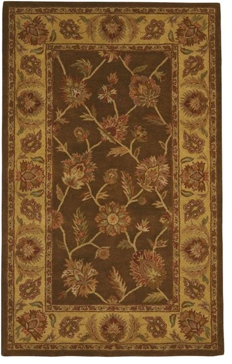Traditional Thomasville 2 X3 Rectangle Brown Area Rug Thomasville Area Rugs