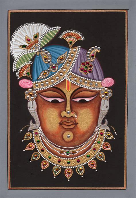 Painting Handmade - shrinathji krishna hindu handmade srinathji spiritual