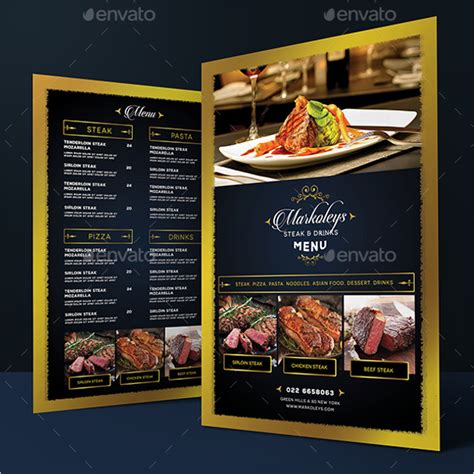 Publisher Menu Card Templates by 68 Menu Card Templates Free Psd Word Illustrator Designs
