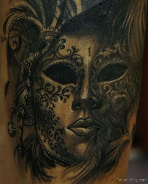 masquerade tattoo mask tattoos designs pictures page 15