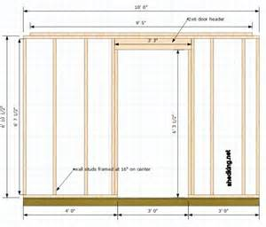 Framing Interior Doors Single Shed Doors