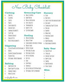new home needs checklist baby checklist free printable frugal fanatic