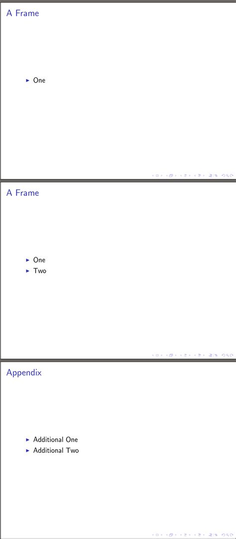 latex appendix section appendix section in beamer with handout mode tex latex