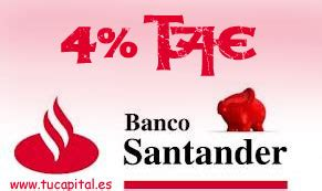 depositos bancarios a plazo fijo de banco santander el banco santander lanza dep 243 sitos bancarios de hasta 4