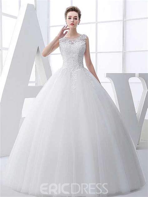fotos de vestidos de novia unicos ericdress beautiful appliques scoop ball gown wedding