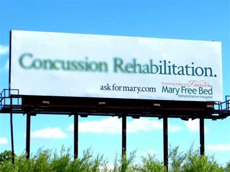 free bed rehabilitation hospital outdoor advert by