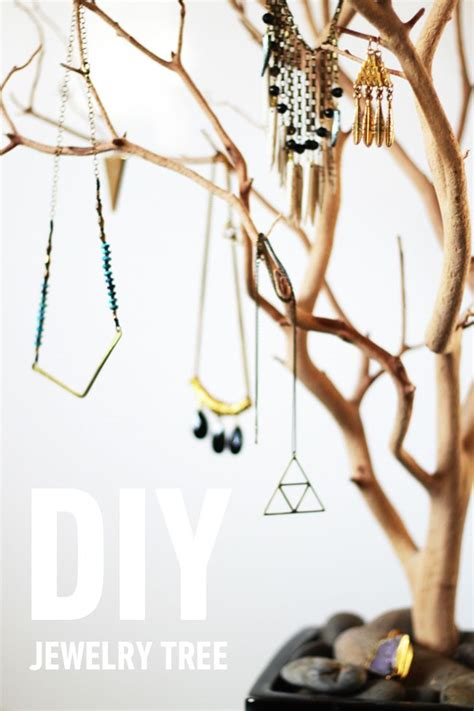 how to make a jewelry tree 11 cool ways to store and display your jewelry