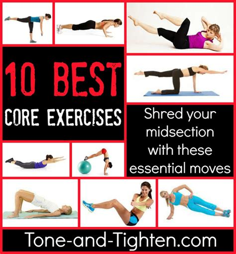 top 10 best exercises tone and tighten