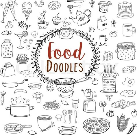 food doodle brushes doodle food set of 80 various products fruits vegetables