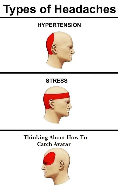 Different Kinds Of Memes - types of headaches 9gag