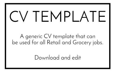 free sle cv template