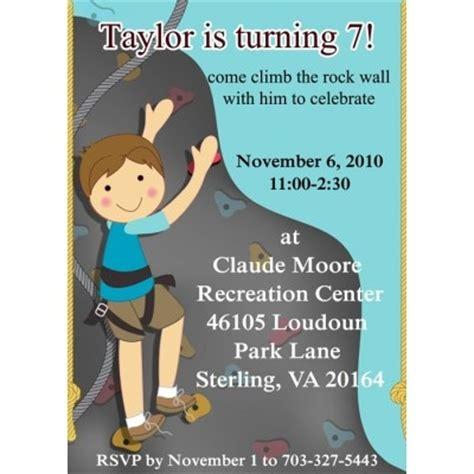 Birthday Party Invitation For Boys Rock Climber Boy Brithday Party Theme Cute Boy Climbing Rock Climbing Log Book Template