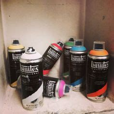 why does spray paint graffiti spray painting on liquitex