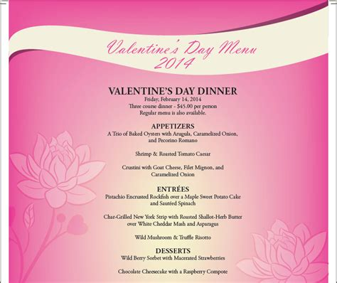 special valentines dinner s day hotel packages and specials 2014