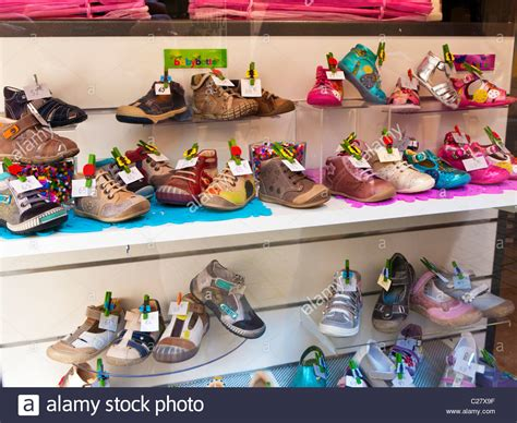 kid shoes shopping shoe shop window display of children s shoes