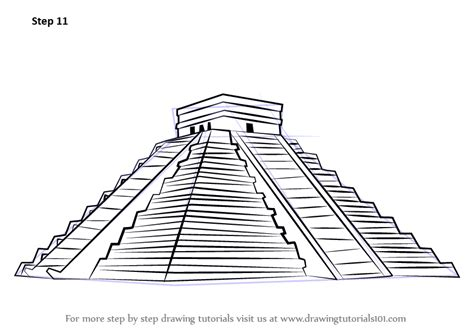Sketches Of 7 Wonders In World by Learn How To Draw El Castillo Chichen Itza Wonders Of The