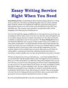 Service Essay by Custom Essay Writing Service Essaywritingagency