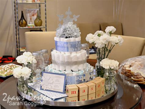Snowflake Baby Shower Ideas by Snowflake Baby Shower 2paws Designs