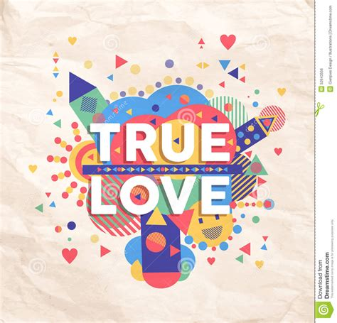 poster design love true love quote poster design stock vector image 52643556