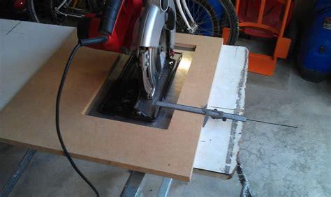 fabriquer support scie circulaire table de lit