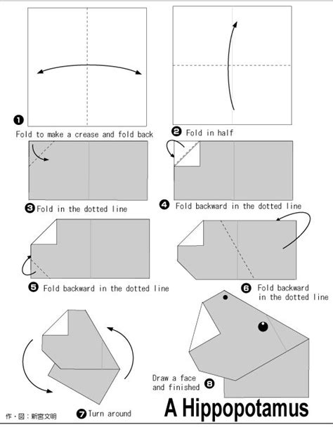 origami hippo 17 best images about origami for kidz on