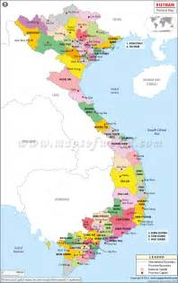 Vietnam World Map by World Map Bodies Of Water Political Vietnam Provinces
