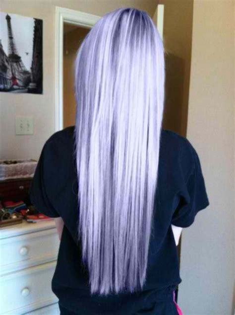 blonde hair with silver lavender highlights pastel purple hair long hair colorful hair silver hair