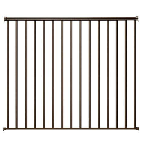 ez handrail 6 ft x 54 in bronze aluminum fence panel kit