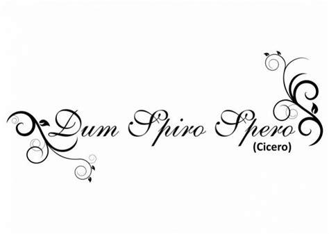 dum spiro spero tattoo designs 45 best latijn quotes images on